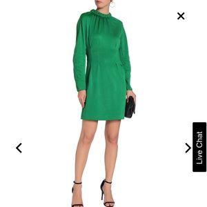 Tibi cutout pique mini dress